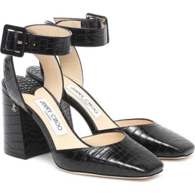 ジミー チュウ Jimmy Choo レディース パンプス シューズ・靴 Jinn 85 Croc-Effect Leather Pumps Black