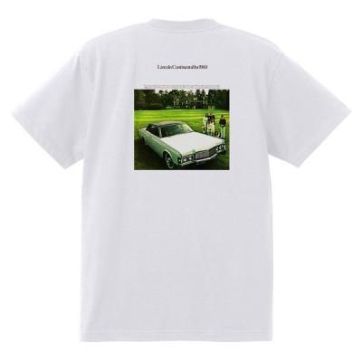 アドバタイジング リンカーンTシャツ 白 1312 黒地へ変更可 レトロ 1969 1968 コンチネンタル マーク3 マークIII スーイサイドドア