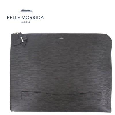 ペッレモルビダ PELLE MORBIDA CAPITANO キャピターノ 型押しレザー クラッチバッグ PMO-CA204(チャコールグレー)