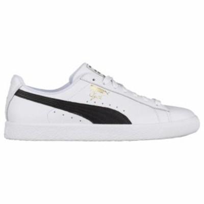 (取寄)プーマ メンズ シューズ プーマ クライド  Men's Shoes PUMA Clyde  White Black Team Gold