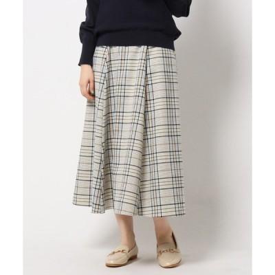 スカート プレッピーチェックサーキュラースカート/通勤/ONSTYLE