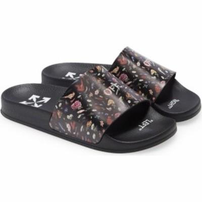 オフホワイト OFF-WHITE レディース サンダル・ミュール スライドサンダル シューズ・靴 Floral Pool Slide Sandal Black