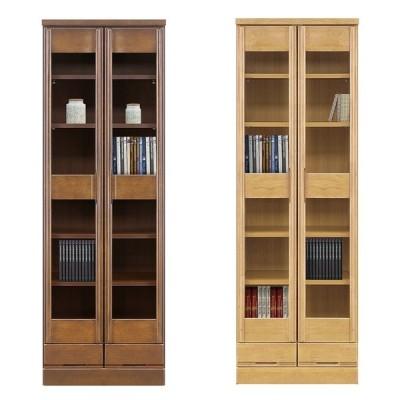 本棚 書棚 ブックボックス 扉収納 棚 収納 食器棚 木製 日本製 完成品 幅60cm 奥行40cm 高さ180cm ブラウン ナチュラル