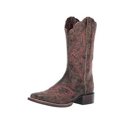 Ariat Women's Women's Round Up Santa Fe Western Boot, Distressed Truffle, 7