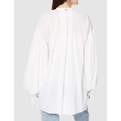 リプレイ コットンクリンクル ライトツイル ブラウス Shirts レディース ホワイト EU M (日本サイズL相当)