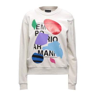 エンポリオ アルマーニ EMPORIO ARMANI スウェットシャツ ライトグレー 38 コットン 88% / ポリエステル 12% / ポリウレ
