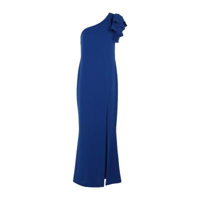 HH COUTURE ロングワンピース&ドレス ブルー S ポリエステル 100% ロングワンピース&ドレス