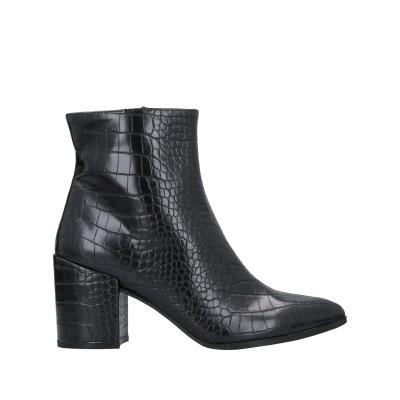 カフェノワール CAFèNOIR ショートブーツ ブラック 35 紡績繊維 ショートブーツ