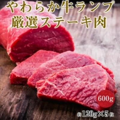 ステーキ 焼肉 やわらか 牛肉 ランプ ステーキ 肉 冷凍 (600g)約120g×5枚