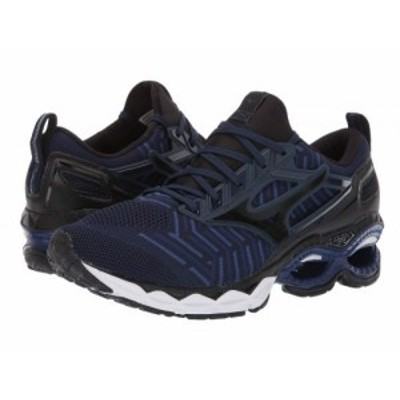 Mizuno ミズノ メンズ 男性用 シューズ 靴 スニーカー 運動靴 Wave Creation C1 Knit Dress Blue/Black【送料無料】