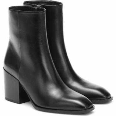 アイデ Aeyde レディース ブーツ ショートブーツ シューズ・靴 Leandra leather ankle boots Black
