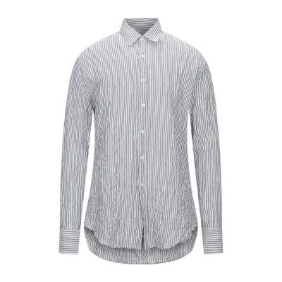 VANGHER シャツ ブルーグレー 40 コットン 100% シャツ