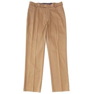 ランドツリーアンドヨーク メンズ カジュアルパンツ ボトムス TravelSmart CoreComfort Flat-Front Classic Relaxed Fit Chino Pants Medium Brown