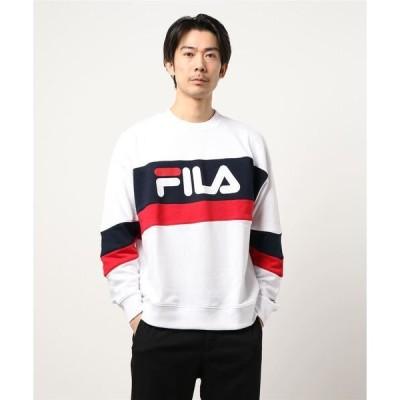スウェット 【FILA/フィラ】切替BIGトレーナー/スウェット ビッグロゴ オーバーサイズ/ビッグシルエット