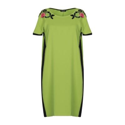 CRISTINAEFFE ミニワンピース&ドレス グリーン 42 ポリエステル 98% / ポリウレタン 2% ミニワンピース&ドレス