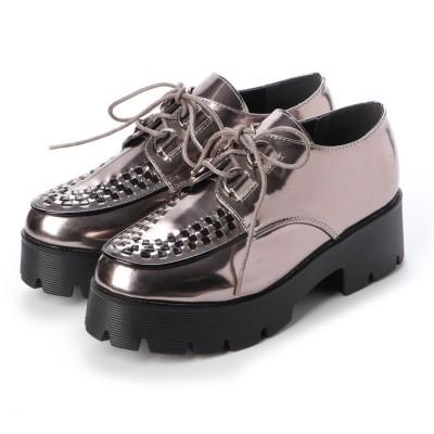 マフモフ Mafmof Mafmof(マフモフ) おじ靴オックスフォードのラバーソールシューズ (ガンメタPU・ブラック)