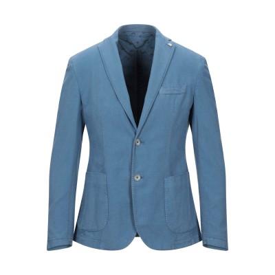 BARBATI テーラードジャケット パステルブルー 48 コットン 98% / ポリエステル 1% / ポリウレタン 1% テーラードジャケット