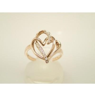 指輪 リング K18 18金 ダイヤモンド 0.12ct ハート 3g #11 中古 (あすつく) 1512