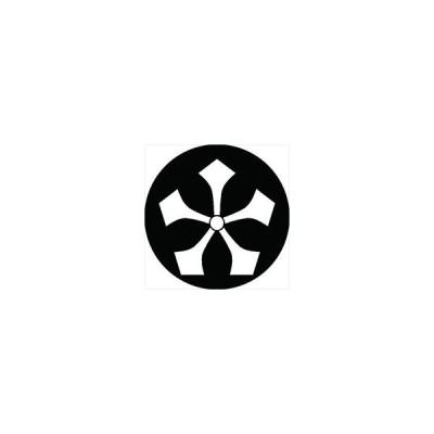 家紋シール 五つ剣紋 直径4cm 丸型 白紋 4枚セット KS44M-1119W