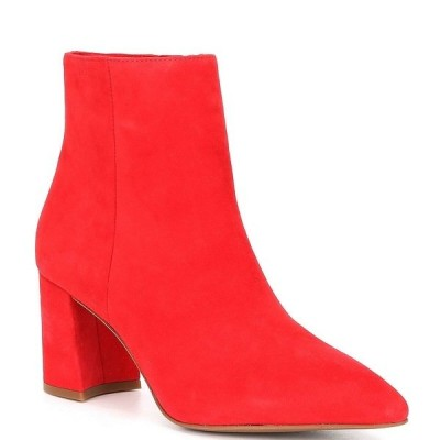 アントニオメラニー レディース ブーツ&レインブーツ シューズ Lindzay Suede Block Heel Booties Madelina Red