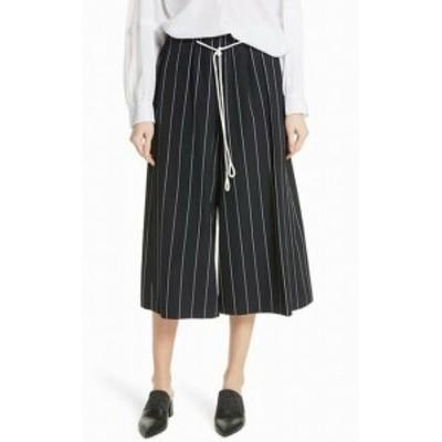 ファッション パンツ vince. Womens Pants Blue Size Medium M Skinny Stripe Cotton Culottes