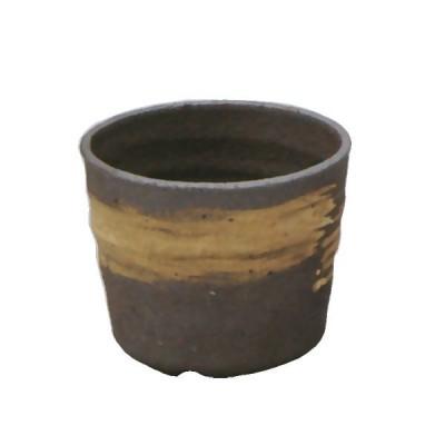 日本製 植木鉢 刷毛目 切立 2.5号 全高7cm×幅8cm 信楽焼 しがらきやき 陶器製 陶器鉢 焼き物 底穴あり プランター ポット