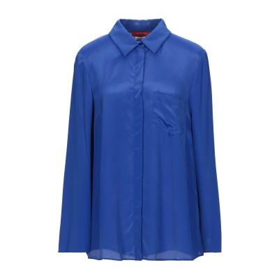 MAX & CO. シャツ ブライトブルー 36 レーヨン 70% / シルク 30% シャツ