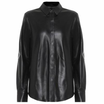 ゼイネプアルケイ Zeynep Arcay レディース ブラウス・シャツ トップス Leather shirt Black