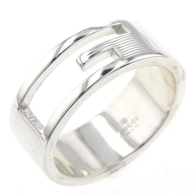 グッチ リング 指輪 ブランデッドG 幅約8mm シルバー925 18号 メンズ GUCCI 中古 K10209954