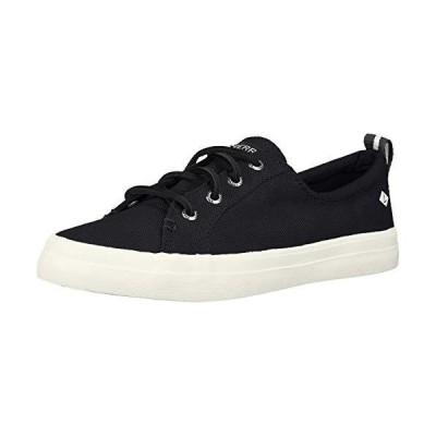 Sperry Women's Crest Vibe Linen Sneaker, Black, 090 M US