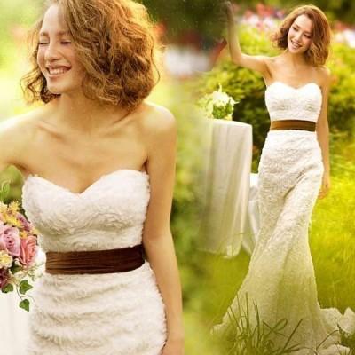 ウェディングドレス結婚式マーメイドドレス花嫁ワンピース二次会パーティードレスおしゃれ