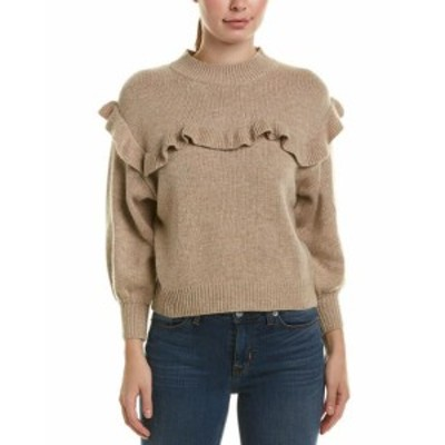 Ruffle  ファッション トップス Cistar Ruffle Wool-Blend Sweater