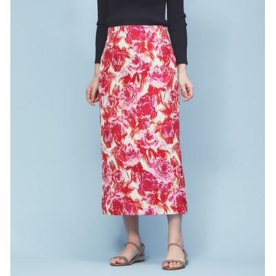 【ルージュ・ヴィフ ラクレ/Rouge vif la cle】 フラワージャガードタイトスカート