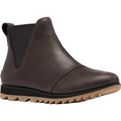 ソレル Sorel レディース ブーツ チェルシーブーツ シューズ・靴 Harlow Chelsea Boot Blackened Brown Waterproof/Gore