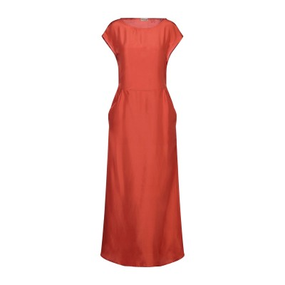 GRAZIA'LLIANI SOON ロングワンピース&ドレス オレンジ 40 シルク 100% ロングワンピース&ドレス