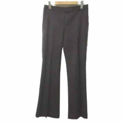 【中古】セオリーリュクス theory luxe パンツ スラックス ブーツカット ウール ストレッチ 茶 ブラウン 038 Mサイズ相当 IBS63 X