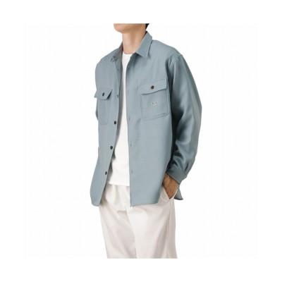 (MAC HOUSE(men)/マックハウス メンズ)VISION STREET WEAR ヴィジョンストリートウェア シューズイラスト刺繍シャツ 1305014Z/メンズ サックス