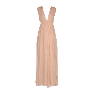 ELISABETTA FRANCHI ロングワンピース&ドレス ローズピンク 42 ナイロン 100% / ポリエステル ロングワンピース&ドレス