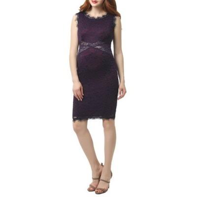 キミアンドカイ ワンピース トップス レディース Lynn Lace Body-Con Maternity Dress Purple