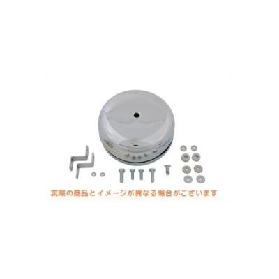 【取寄せ】Round Air Cleaner Chrome  V-TWIN 品番 34-0553  (参考品番: )  Vツイン アメリカ USA