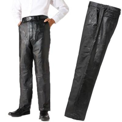 ラム革パッチワーク柄型押パンツ 軽量 やわらかい ボトムス フランコ・コレツィオーニ 41144