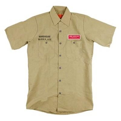 マーキュリー アウトドアシャツ 半袖ワークシャツ  L  カーキ