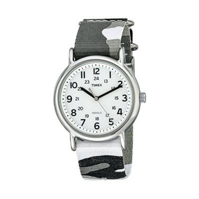 腕時計 タイメックス レディース T2P3669J Timex Unisex T2P366 Weekender Gray Camo Slip-Thru Nylon