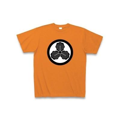 島左近(家紋) Tシャツ Pure Color Print(オレンジ)