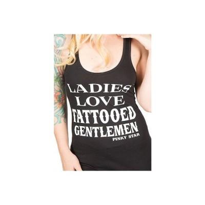 Tシャツ レディース 海外セレクション Women's Pinky Star Ladies Love Tattooed Gentlemen Racerback Tank Top Ink Inked
