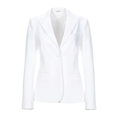 パロッシュ P.A.R.O.S.H. テーラードジャケット ホワイト L コットン 98% / ポリウレタン 2% テーラードジャケット