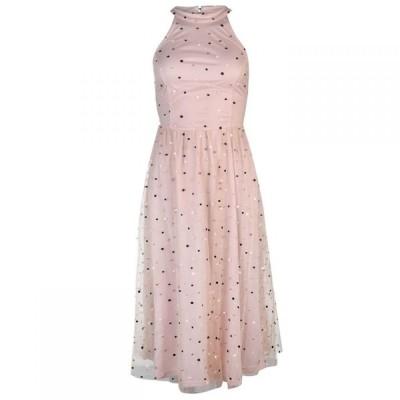 ヴィラ Vila レディース ワンピース ミドル丈 ワンピース・ドレス Halter Midi Dress ROSE SMOKE