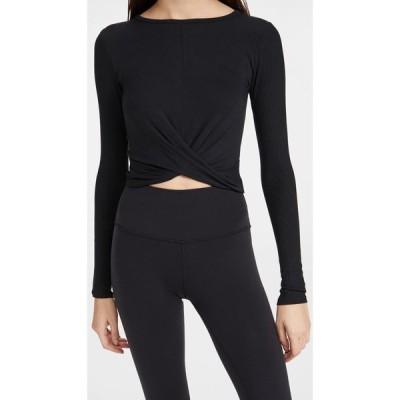 アローヨガ Alo Yoga レディース 長袖Tシャツ トップス Cover Long Sleeve Top Black