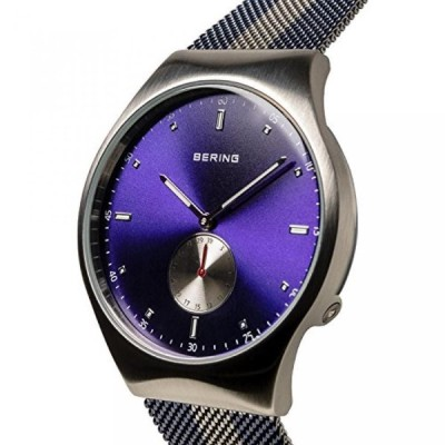 ベーリング 腕時計 メンズ用 BERING Time 70142-807 Smart Traveler Collection Watch with Mesh Band and scratch resistant sapphire crystal