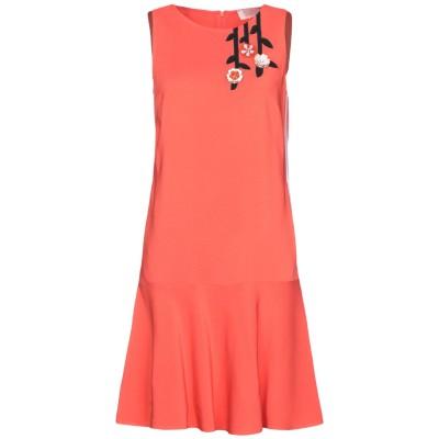 VDP COLLECTION ミニワンピース&ドレス オレンジ 42 レーヨン 94% / ポリウレタン 6% ミニワンピース&ドレス